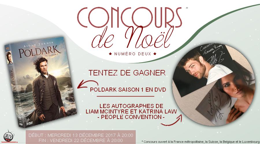 Concours de Noël : un coffret DVD Poldark et des autographes Spartacus/Arrow à gagner