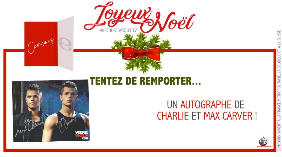 [Calendrier de l'avent – Jour 9] Tentez de remporter les autographes de Max et Charlie Carver !