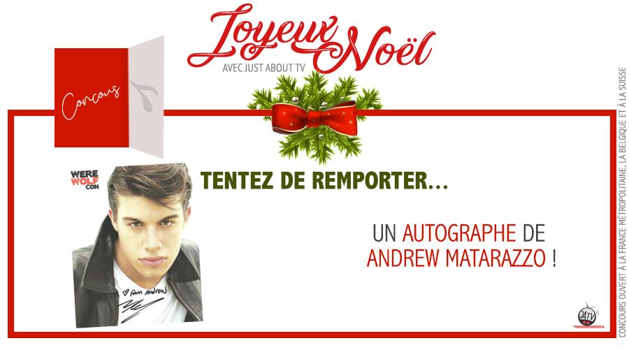 [Calendrier de l'avent – Jour 7] Tentez de remporter un autographe d'Andrew Matarazzo !