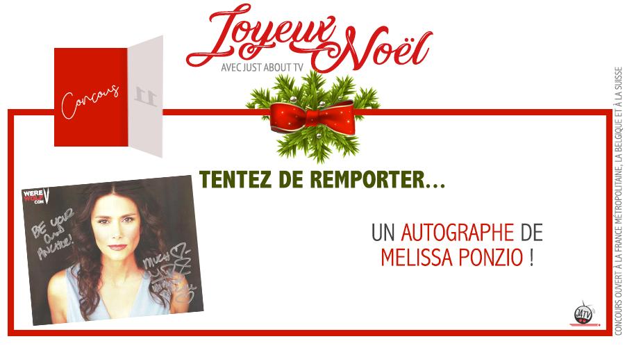 CONCOURS SURPRISE : Tentez de remporter un autographe de Melissa Ponzio !