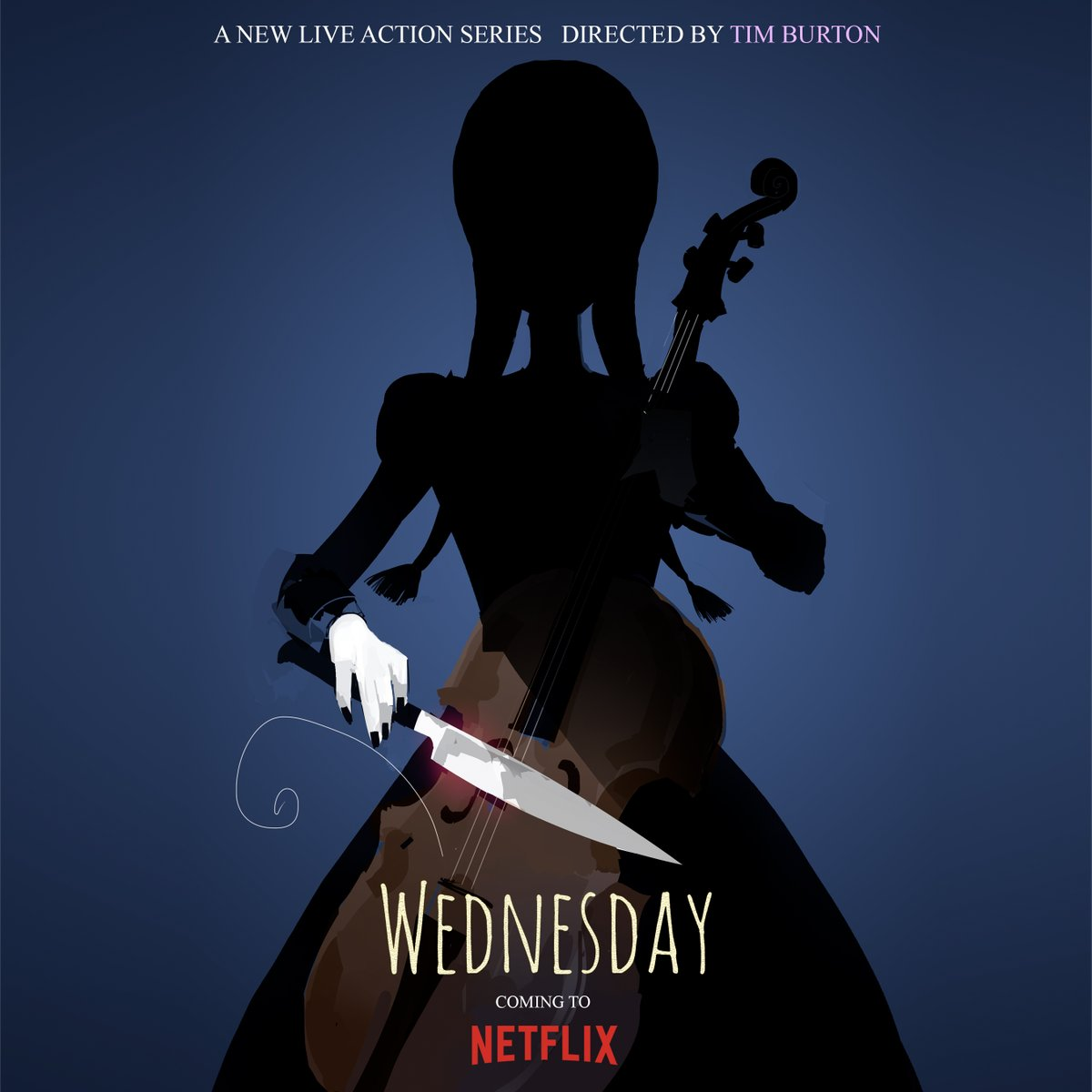 Une nouvelle série Netflix sur Wednesday Addams par Tim Burton !