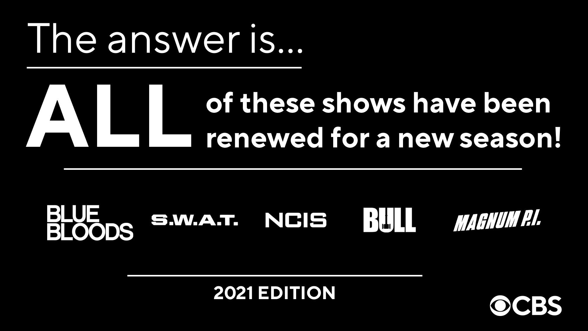 NCIS, Bull, S.W.A.T., Blue Bloods et Magnum P.I. renouvelées sur CBS
