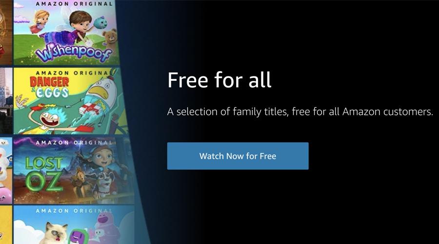 Amazon Prime offre du contenu gratuit pour les enfants