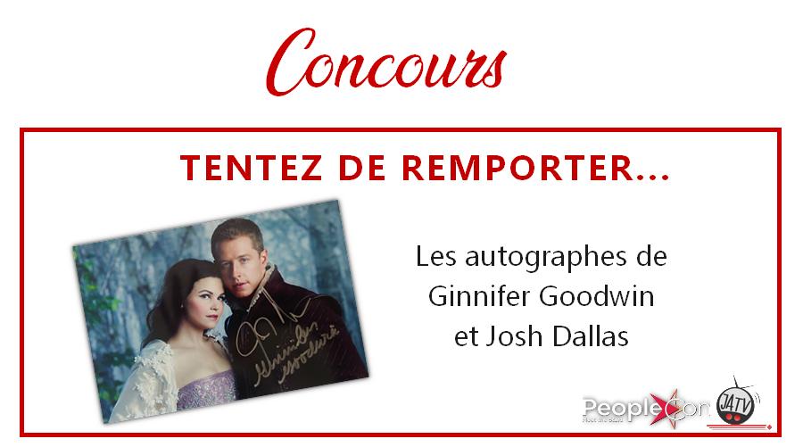 Once Upon A Time : les autographes de Ginnifer Goodwin et Josh Dallas à gagner !