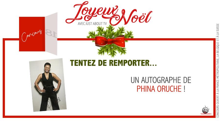 CONCOURS SURPRISE : Tentez de remporter un autographe de Phina Oruche !