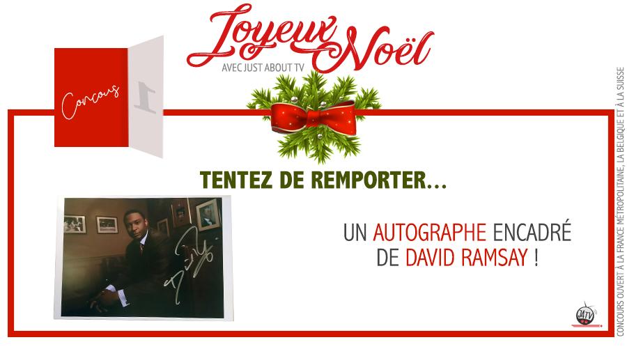 [Calendrier de l'avent - Jour 1] Tentez de remporter un autographe de David Ramsay !
