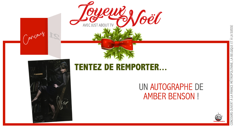 CONCOURS SURPRISE : Tentez de remporter un autographe d'Amber Benson !